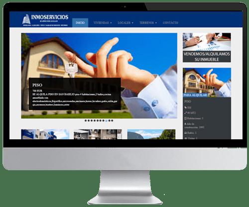 Web con aplicación específica de inmuebles